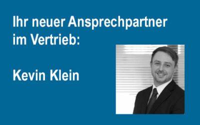 Wir haben Verstärkung im Vertrieb: Kevin Klein