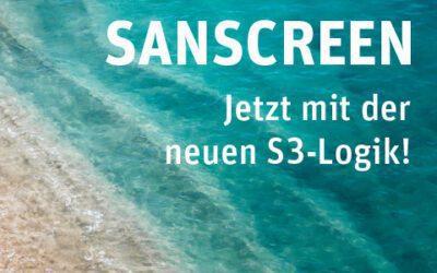 SANSCREEN – neue Suchlogik und Produktfeatures